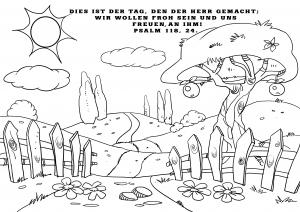Dies ist der Tag des Herrn - Ausmalbild