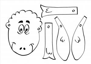 Bastelvorlage Schaf - Gleichnis Jesu - Das verlorene Schaf - Der gute Hirte