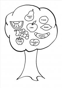 Bastelbogen - Früchte des Geistes