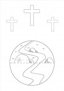 Bastelbogen Golgatha - Jesu Kreuzigung