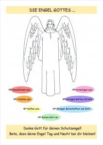 Ausmalbild Engel