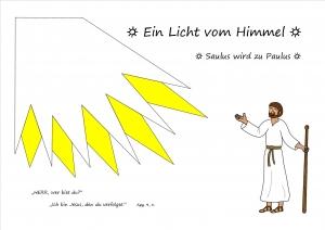 Bastelbild: Saulus wird zu Paulus - Ein Licht vom Himmel