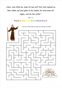 Labyrinth Paulus nach Damaskus
