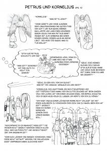 Die Geschichte von Petrus und Kornelius - Ausmalbild